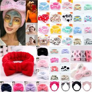 Spa Bath Shower Makeup Wash Face Cosmetic Headband Hair Band Velvet HeadWrap UK