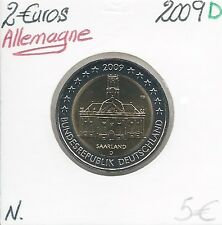 2 Euros - ALLEMAGNE - 2009 - Lettre: D // Pièce de Monnaie en Qualité: Neuve