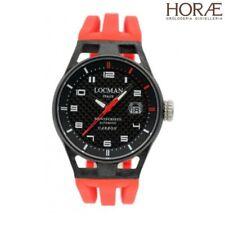 Orologio Locman Montecristo 0544C09S-CRCBWHSR Carbonio Automatico gomma rosso