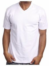 Men's HEAVY WEIGHT  V-Neck T-Shirts Lot Blank Plain Tee  BIG & TALL Camo S-5X