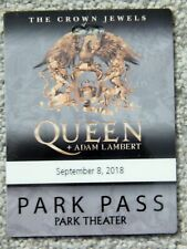 Queen W/ Adam Lambert Park Vegas Sep 8 2018 Orig Park Pass Credential Rare