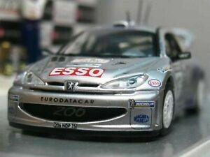 WOW EXTREMELY RARE Peugeot 206 WRC #10 Gronholm RAC 2000 Diorama WC 1:43 Vitesse