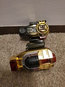 Power Rangers ZEO Gold ZEONIZER Morpher Communicator w/ Straps RARE Works!