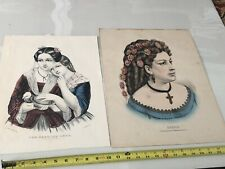 The Carrier Dove & Sarah Original Currier & Ives Lithographs
