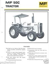 Equipment Brochure - Massey Ferguson - Mf 50C - Tractor - c1980 (E2750)