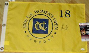 ANNIKA SORENSTAM Signed 2006 US OPEN FLAG - JSA COA - LPGA *HOF