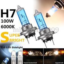 4Pcs H7 501 100W Upgrade Head Side Light Bulbs Super Bright White Dip Main Beam