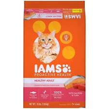 Iams Proactive Health Healthy Adult Dry Cat Food With Salmon And Tuna 16 Lb. Bag