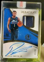 2017-18 Panini Immaculate Dennis Smith Jr. RPA 3 Color Patch Auto Rookie #65/99