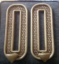 VINTAGE MID CENTURY PAIR OF HOMCO FAUX WOOD PLASTIC WALL DECOR CANDLE HOLDERS