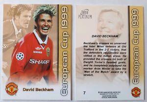 David Beckham - Manchester United Futera European Cup 1999 Treble Card Platinum