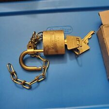 Vintage US Military Brass Lock with Key American Lock Co. with 2 keys and box