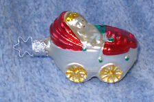 1985 Merck Family'S Old World Christmas Ornament #4437138 Doll Buggy-retired '94