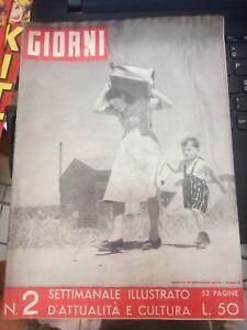 Rivista GIORNI Settimanale illustrato d'attualità e cultura N°2 4 DICEMBRE 1949