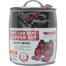 8PC RALLY SPORT UNIVERSAL CAR SEAT COVER SET WITH A CARRY BAG WASHABLE SET NEW