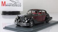 Scale model car 1:43 Jaguar MKV Black over Red 1950