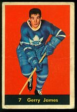 1960 61 PARKHURST HOCKEY 7 GERRY JAMES VG TORONTO MAPLE LEAFS  CARD
