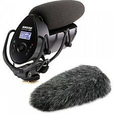 Shure VP83F LensHopper Shotgun Microphone with Fur Windjammer A83-FUR
