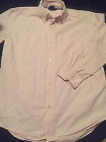 Gap Kids Boys Long Sleeve Button Up Shirt Size Large 10 Pink