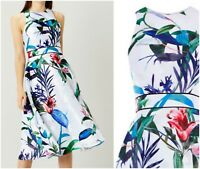 ex Coast Floral Full Midi Races Party Prom Formal Cocktail Occasion Dress RRP169