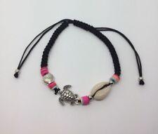 Macrame Cord Bracelet Black Hot Trendy Turtle And Shell