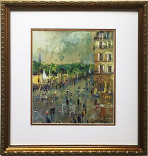 "LeRoy Neiman ""Tour De France"" Newly Custom FRAMED ART PRINT bicycle race Cycling"
