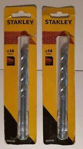 2 X STANLEY SDS MASONRY DRILL BITS 14MM NEW PROFESSIONAL DIY