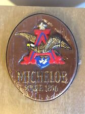 Vintage Ceramic Michelob Beer Sign With Wall Hanger