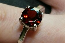 Rajasthan Garnet solid Sterling Silver Ring Hallmarked 2.11cts Size N-0