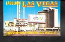 LAS VEGAS HILTON HOTEL1970'S NOW APPEARING GLEN CAMPBELL PERRY COMO POSTCARD