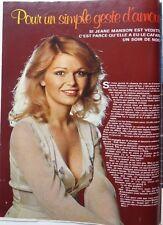 JEANE MANSON  => COUPURE DE PRESSE 2  pages HIT 1976