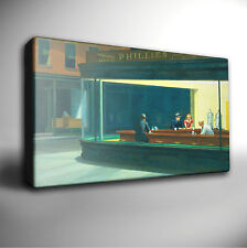 Edward Hopper 'NIGHTHAWKS' - Giclee CANVAS Wall Art Picture Print