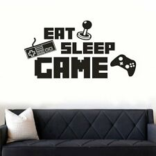 Eat Sleep Game Version Wall Decal Sticker Vinyl Art Design For Gamer Home Decor