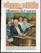 Sheet Music Magazine April/May 1985 Standard Piano / Guitar Monsters In Concert