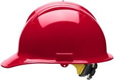 Bullard Cap Style Hard Hat with 6 Point Ratchet Suspension, Red