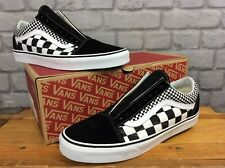 VANS MENS UK 11 EU 46 OLD SKOOL MIX CHECKER BLACK WHITE TRAINERS LD