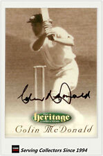 1996 Futera Cricket Heritage Signature Card Player Edition #23: Colin McDonald
