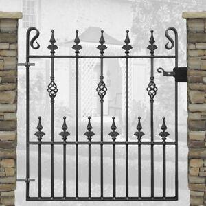 Safety Spear, Single Garden Gates Wrought Iron Metal Steel Gate - 3ft Opening