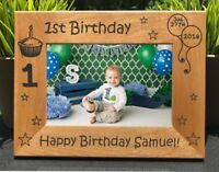 Personalized Engraved // 1st Birthday // Picture Frame