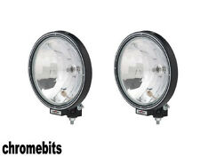 "2X 12V/24V 9"" ROUND SPOT LIGHTS SPOT FOG LAMPS CAB TOP BAR TRUCK LORRY 4X4"