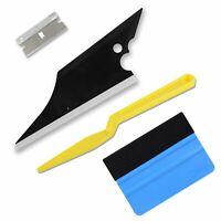 4PCS Window Tint Tool Conqueror Squeegee Blue felt Scraper Gasket Shank Razor US