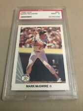 1990 Leaf Mark McGwire Oakland Athletics Baseball Card PSA 9 Mint
