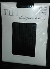 Fifi Mujer 70 Denier Microfibra Medias NEGRO talla única Rayas Estampado