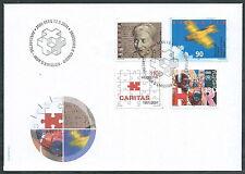 2001 SVIZZERA FDC ANNIVERSARI NO TIMBRO DI ARRIVO - SV5