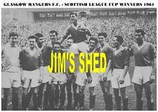 Glasgow Rangers f.c.team stampa 1961 (League Cup Winners)
