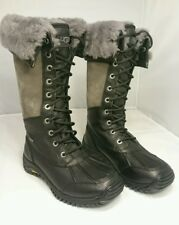 NEW Sz 6 UGG Australia Adirondack TALL Women's Boots Warm UggPure BLACK 1001786