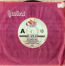 "THE DeFRANCO FAMILY - HEARTBEAT - IT'S A LOVEBEAT - 7"" 45 VINYL RECORD - 1973"