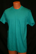 NOS Mens L Vtg 1970s USA GREEN 100% Cotton BLANK Fruit of the Loom T-Shirt 70s