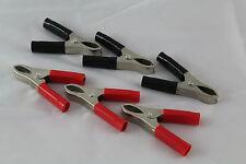 6 Stück Ladeklemmen ; Klemmen , Batterieklemmen - Polklemmen Krokodilklemmen neu