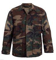 woodland camo bdu shirt military style camouflage coat rothco 7940
